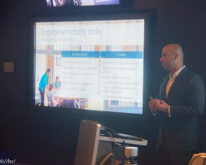 Hammad talking about Enterprise Mobility Strategy